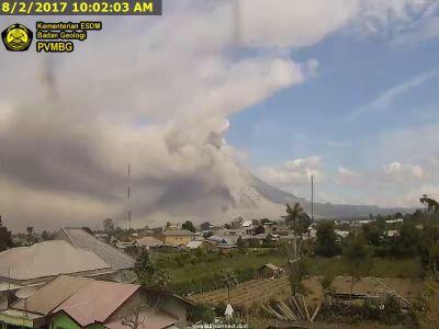 Laporan Perkembangan Erupsi Gunung Sinabung oleh Badan Geologi
