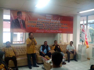Ketua TPC Partai Hanura Kota Bandung Hidayat Adjiediputra