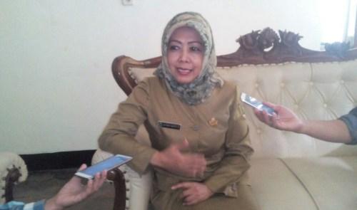 Esther Miory Kepala Museum Sri Baduga Bandung saat wawancara Museum Expo 2017