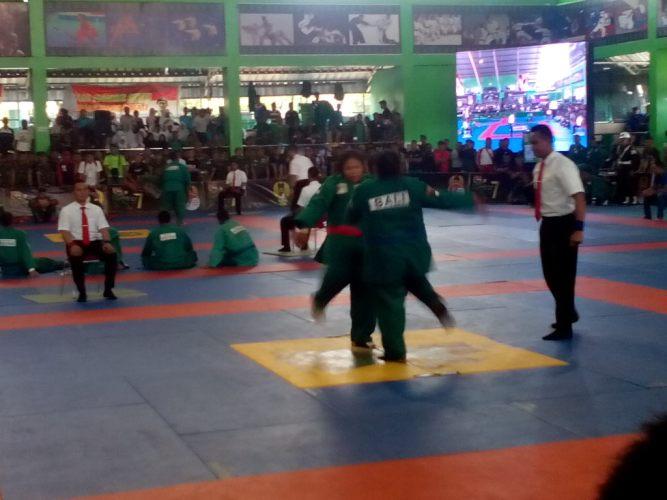 Kejurnas beladiri militer Yong Modoo Kasad Cup ke-7 kelas +65 Kg Putri