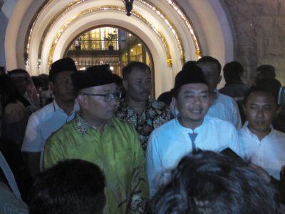 Ridwan Kamil dan Ketua DPW PKB Jabar Syaiful Huda saat wawancara dengan wartawan, Senin (11/9/2017).