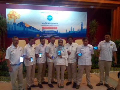 Jajaran Badan Geologi PVBMG yang membangun aplikasi MAGMA Indonesia