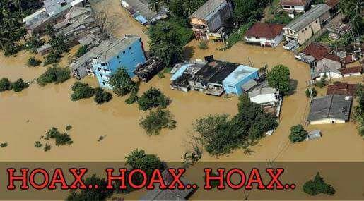 Foto hoax saat bencana longsor dan banjir di Pangandaran