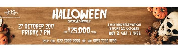 Halloween Spooky Dinner Mercure Bandung City Centre
