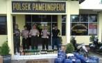 Kepala Polsek Pameungpeuk Kompol Rahmat Dasep berserta jajaran