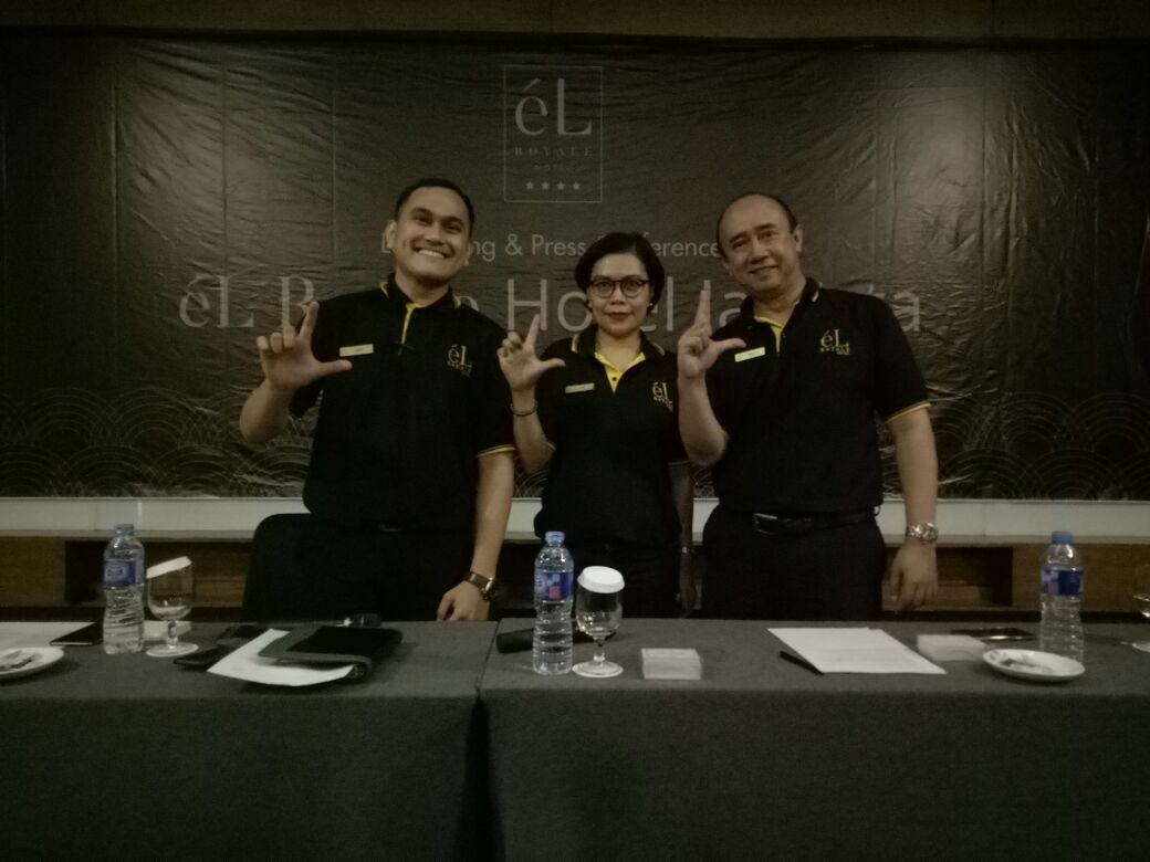 Iwan S. Sumantri, Lenni Apriyanti, dan Gomer Hutasoit, saat acara Media Gathering bersama eL Royale Hotel Jakarta, Rabu (13/12/2017).
