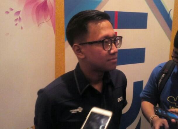 Fajar Kurniawan, Producer, saat wawancaranya dengan awak media disela audisi Miss Indonesia 2018 di Kota Bandung, Sabtu (9/12/2017).