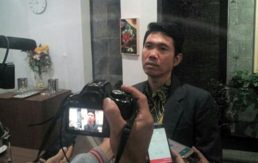 Dr Agus Aribowo, M.M., saat wawancaranya dengan awak media terkait dengan kajian Pilgub Jabar di Dafam Rio Hotel, Jl RE Martadinata, Kota Bandung, (5/1/2018).