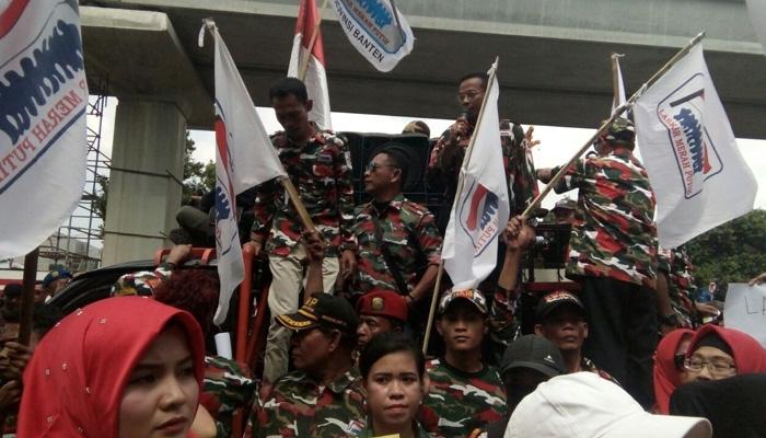 Laskar Merah Putih Mada Jabar Ikut Gelar Aksi Demo Di Kedubes Malaysia
