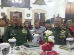 Mayjen TNI Doni Monardo dan Mayjen TNI Besar Harto Karyawan di Acara Silaturahmi serta pemberian penghargaan kepada Insan Pers dan Pegiat Lingkungan