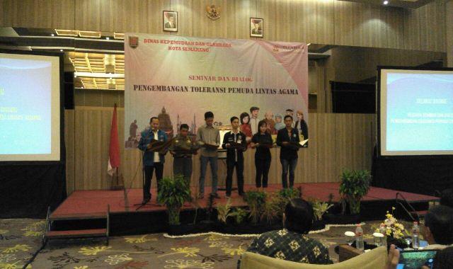 Pemuda Lintas Agama Kota Semarang Deklarasi Damai