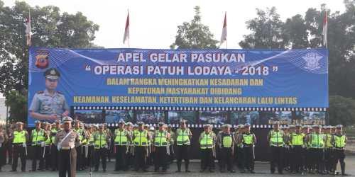 Peserta apel Operasi Patuh Lodaya 2018 di Polda Jabar
