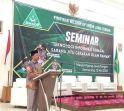 Sekertaris PWNU Jawa Tengah Dr KH Arjak Imroni pada sambutannya di Seminar Jurnalistik GP Ansor Jawa Tengah yang mengangkat tema Teknologi Informasi Sebagai Sarana Jitu Gerakan Islam Ramah.
