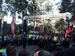 Lomba Lintas Alam Citarum Harum dalam rangka HUT Kodam Siliwangi ke 72 di Situ Cisanti, Kabupaten Bandung.