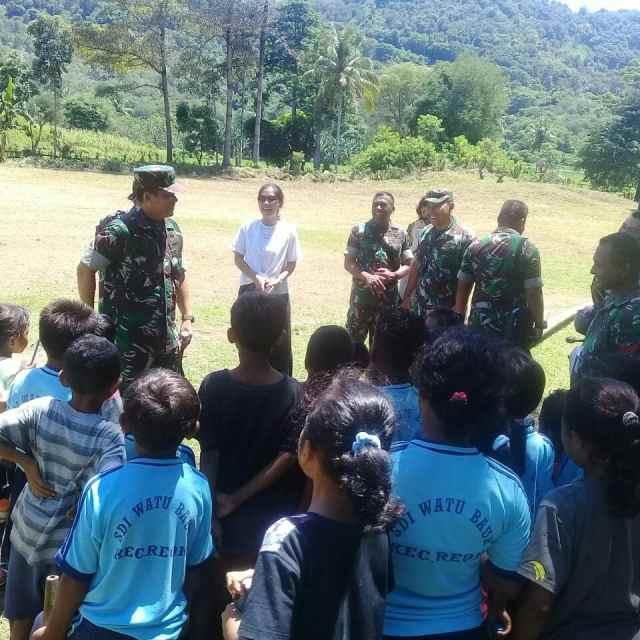 sharing and education learning Dandim 1612/Manggarai