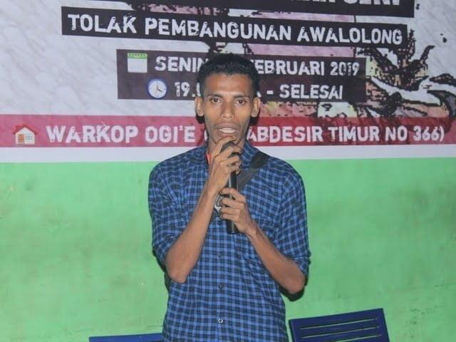 salah seorang koordinator aksi solidaritas Front Mata Mera Makassar