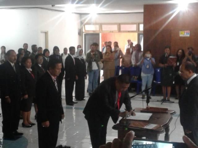 pelantikan pejabat struktural di lingkup pemkot Kota Kupang