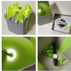 regalo sorpresa con globos