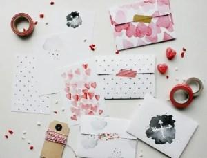 cartas y sobres san valentin