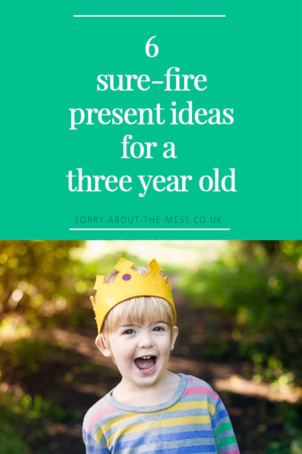 6 present ideas for three year olds. These sure-fire present ideas for a three year old will be loved by any child.  If you are sttruggling with ideas for what to buy a three year old, here are some present ideas for three year olds that will suit every budget.