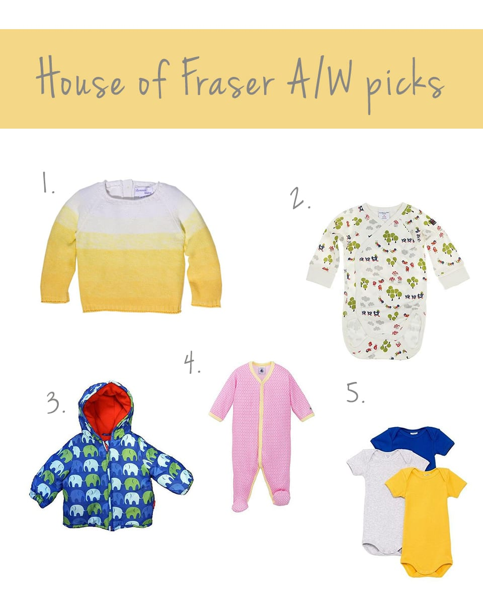 house of fraser children's clothes