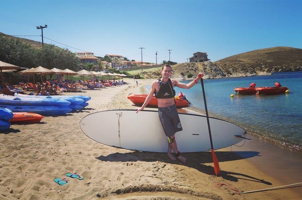 paddle boarding mark warner