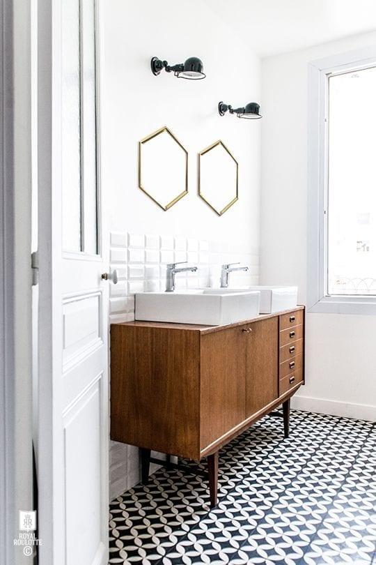 wood sink vanity