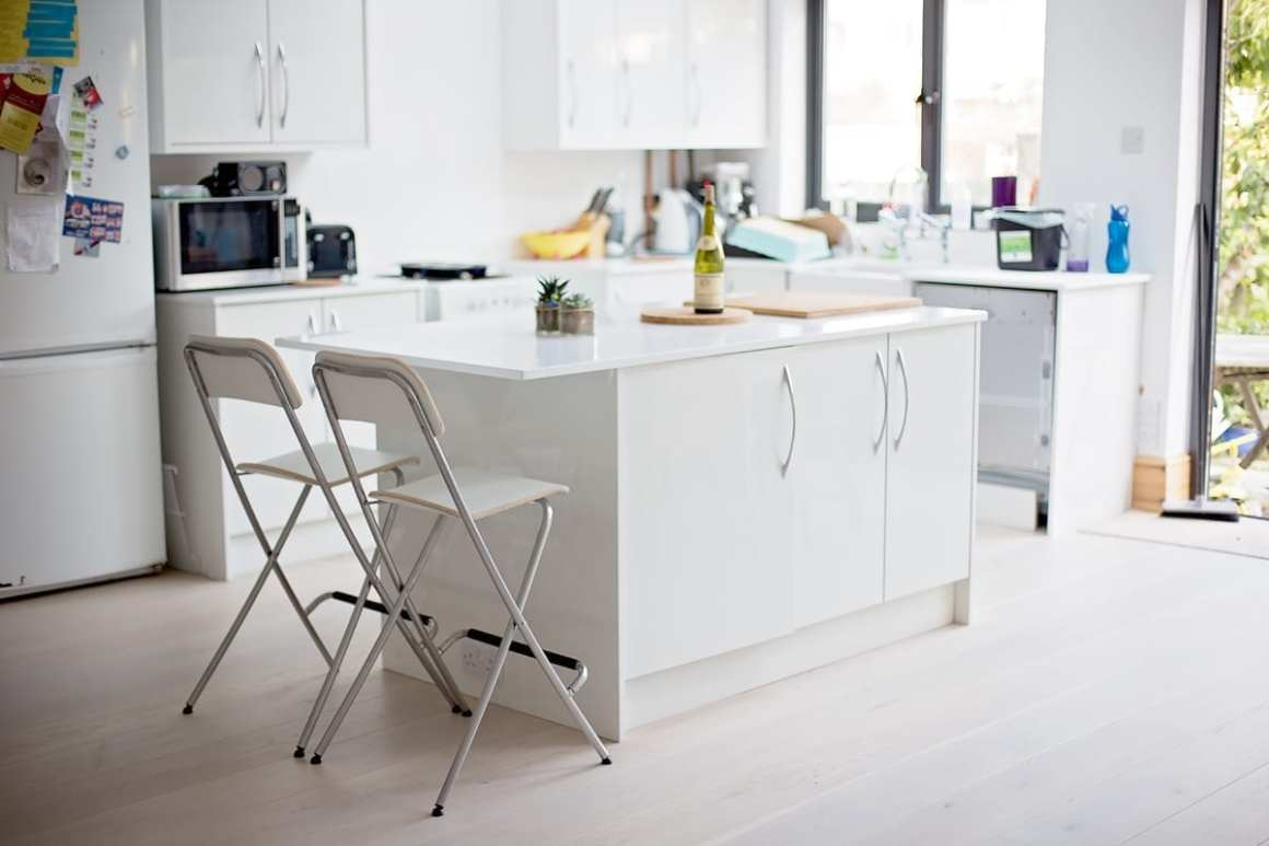 Esker Ice white kitchen wickes