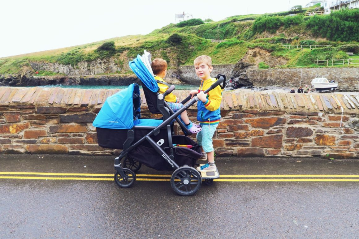 Uppababy double configurations buggy board