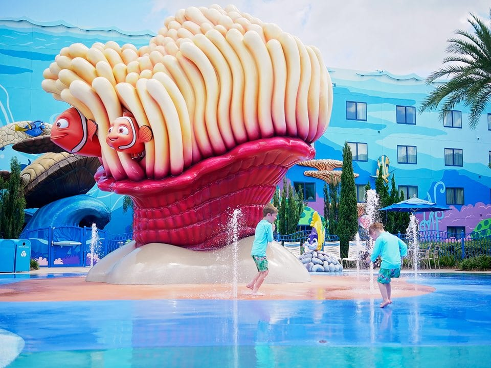 art of animation splash pool