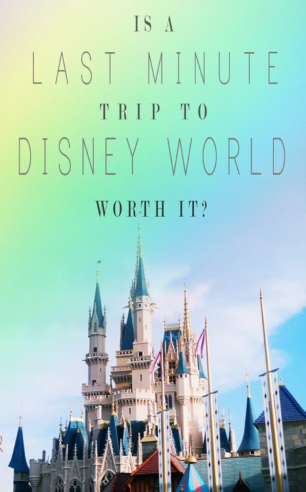 last minute disney world