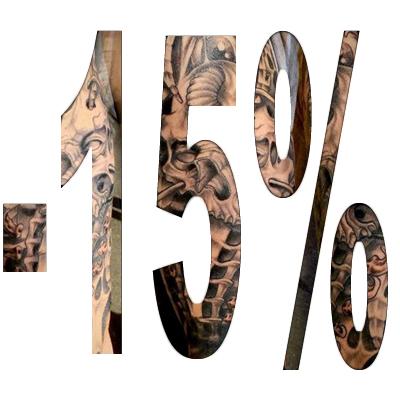 promotion tatouage -15%