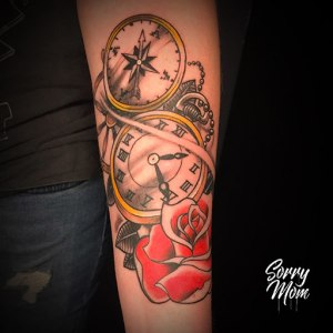 montre et rose new school