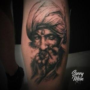 Portrait shaman tatouage
