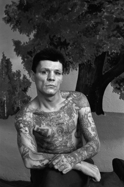 Prisonnier russe tatoué