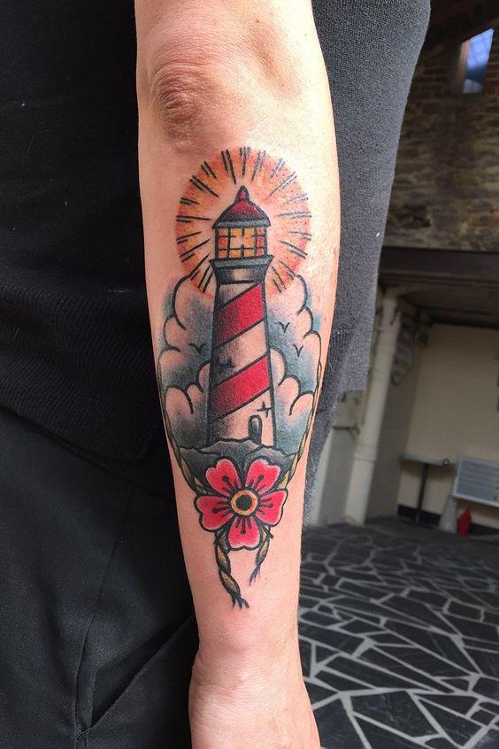 Tatouage phare old school