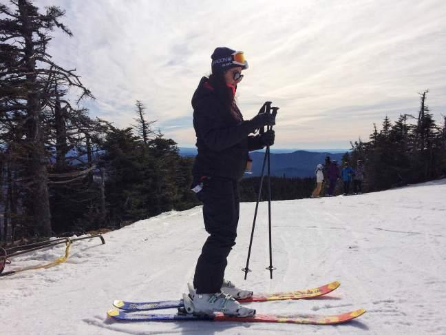 Spring ski and snowboard