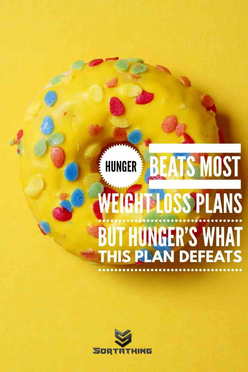 Weight loss plan doughnut