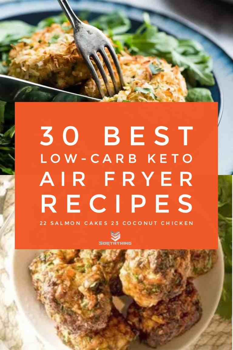 Air Fryer Salmon Cakes & Keto Chicken Coconut Meatballs