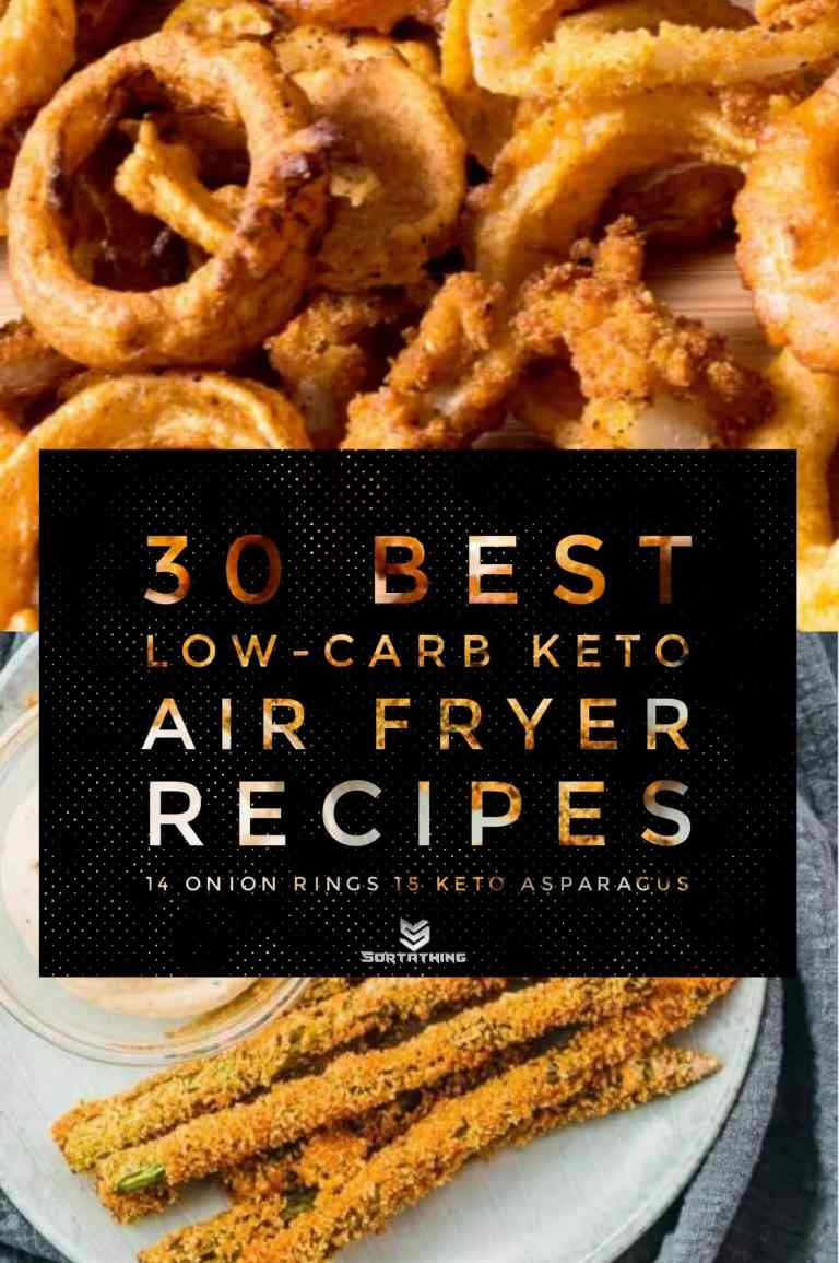 Low Carb Air Fried Onion Rings & Keto Asparagus
