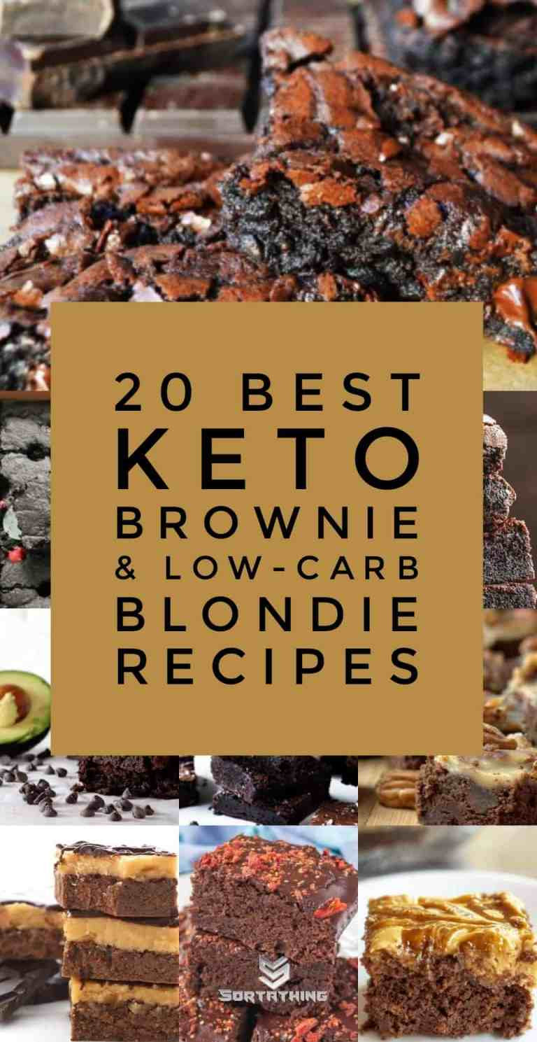 20 Best Keto Brownie & Low-Carb Blondie Recipes
