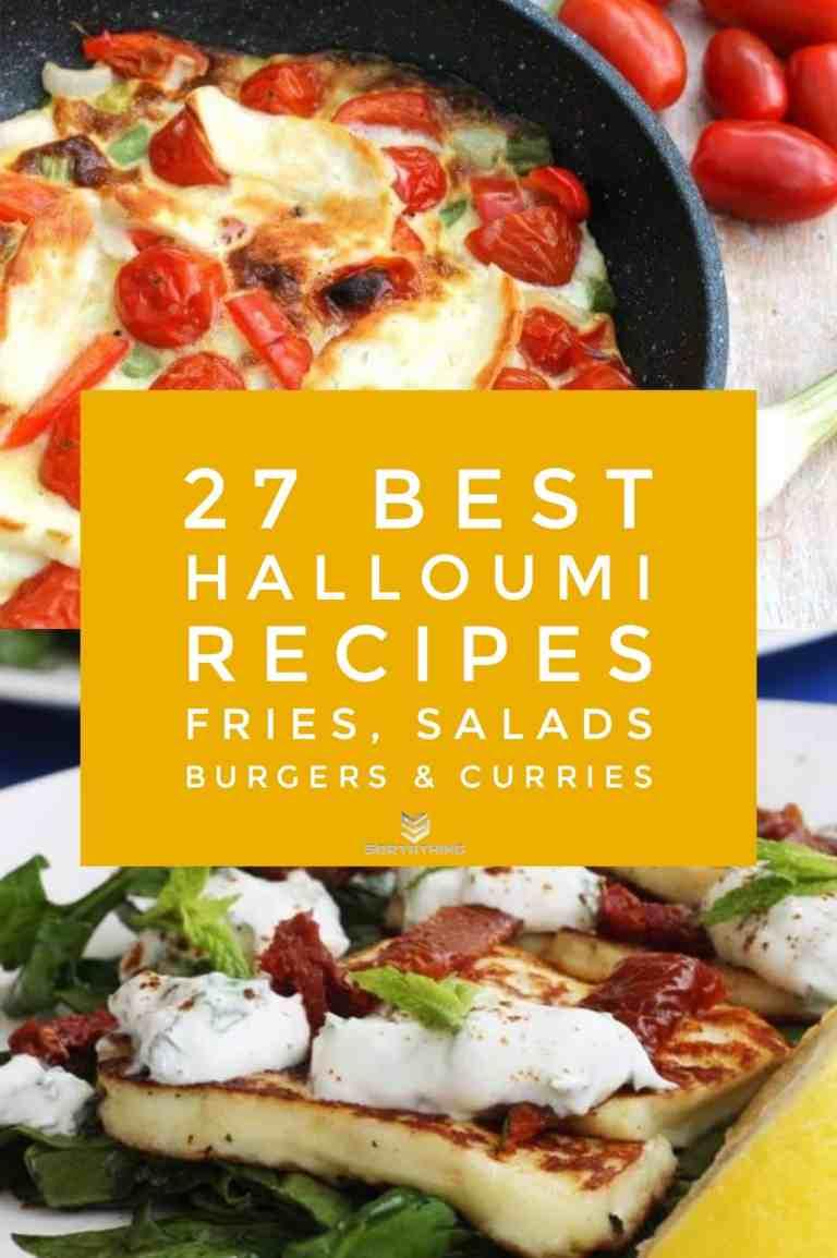 Halloumi Frittata & Minty Halloumi & Sundried Tomato Salad