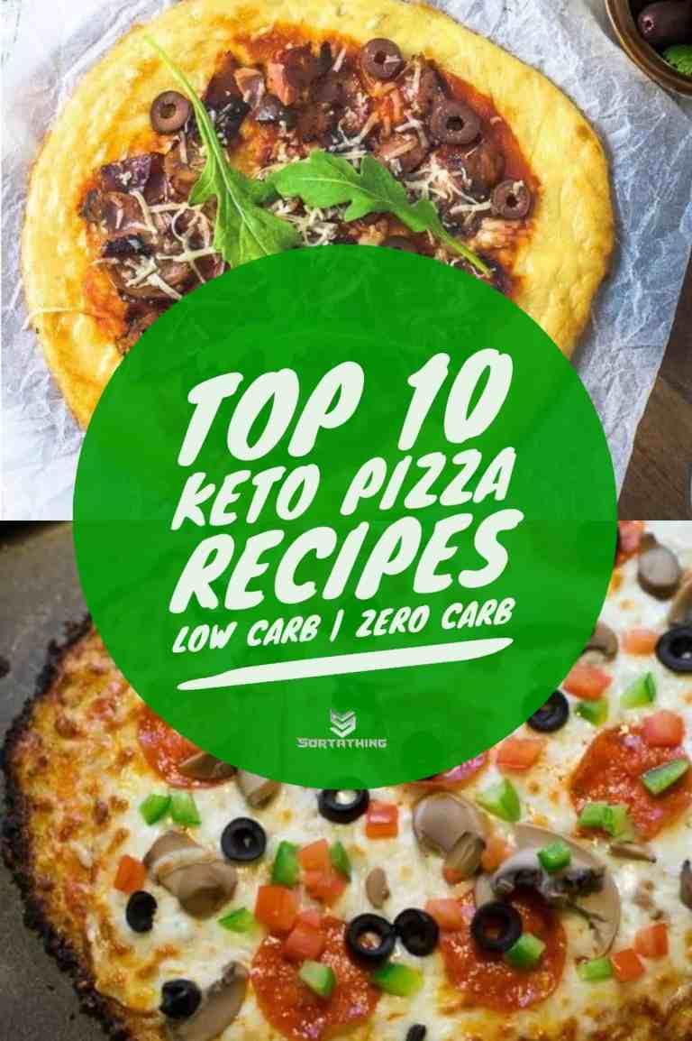 Better than Fathead Pizza Low Carb Pizza Crust & Cauliflower Pizza Crust