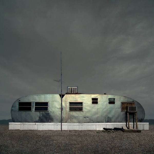 """Aluminum Trailer, Desert Shores CA - Edition 4 of 9"" - Original Artwork by Ed Freeman"