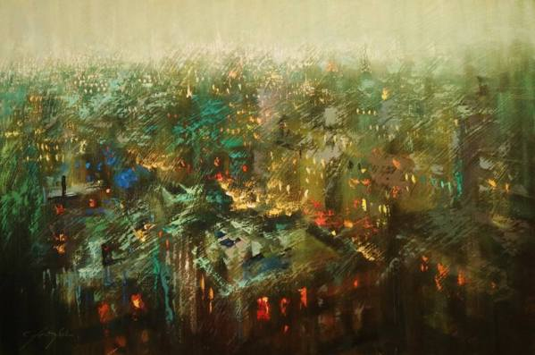 """""""Evening New York"""" - Open Edition Print by Chin h Shin"""