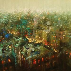 """Evening New York"" - Open Edition Print by Chin h Shin"