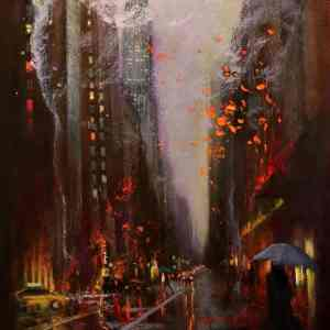 """Lexington Avenue"" - Open Edition Print by Chin h Shin"