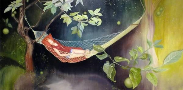 """She hangs between both sides of the Veil"" - Original Artwork by Lara Cobden"