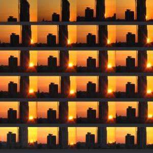 """Sunset Rooftops"" - Original Artwork by Jaykoe Artist"