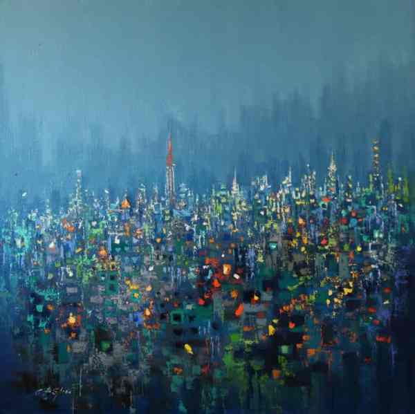 """URBAN FOREST- Evening Low Cloud"" - Open Edition Print by Chin h Shin"